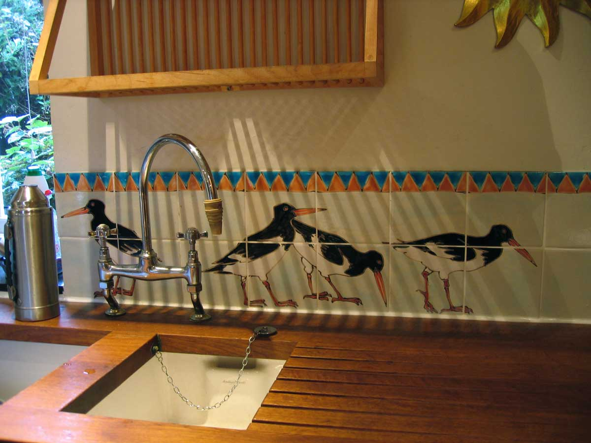 oyster catcher kitchen tiles