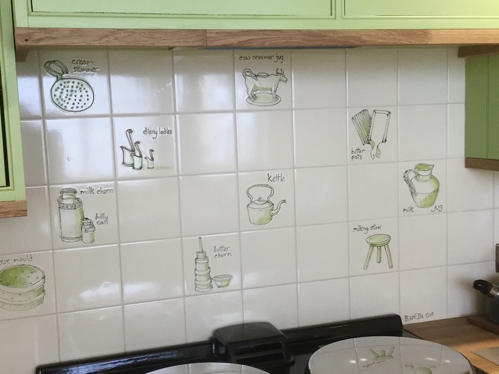 dairy bygones bespoke kitchen tiles