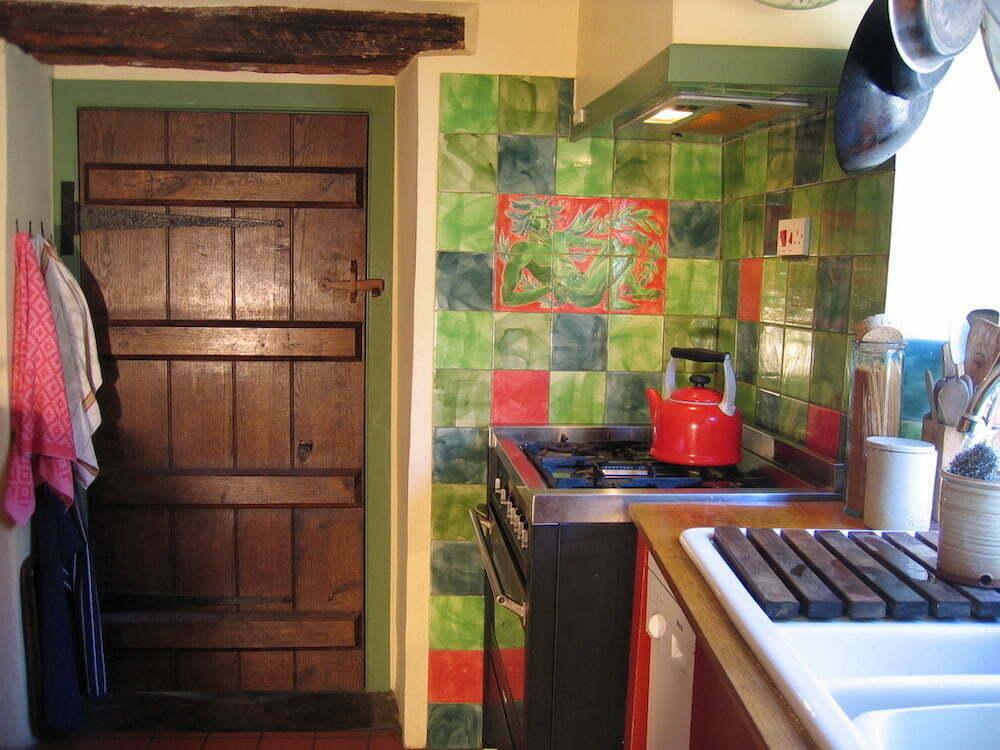 green man kitchen tiles