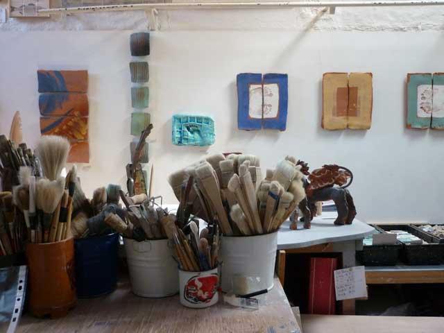 Sculpture on show in the studio