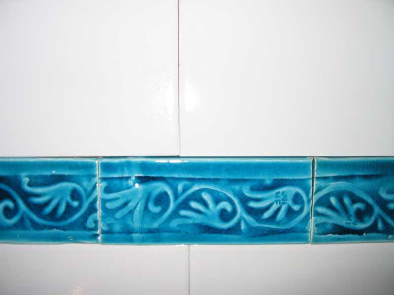 handmade clay border tiles