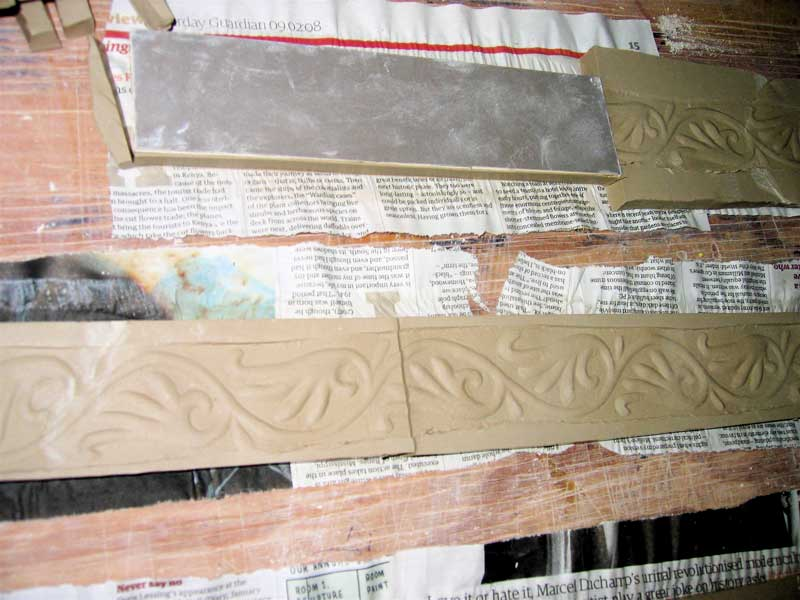 making handmade border tiles