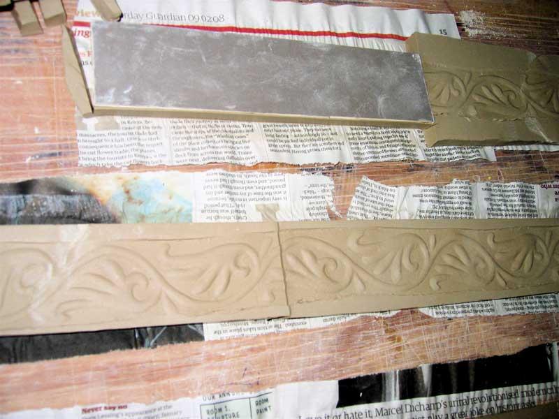 making handmade border tiles