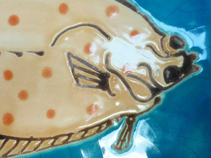 fish tile panel- plaice.