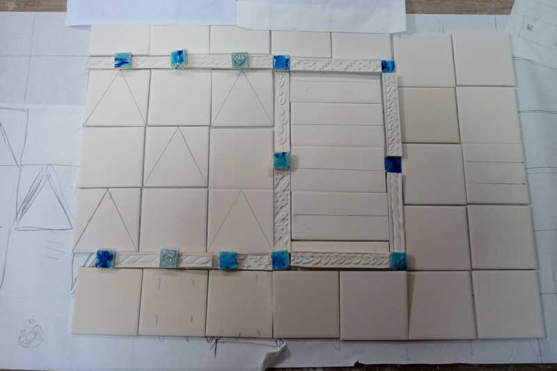 Tile mosaic, initial layout.