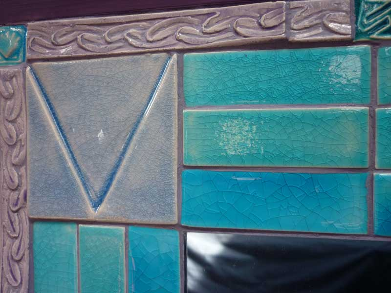 Tile mosaic mirror.