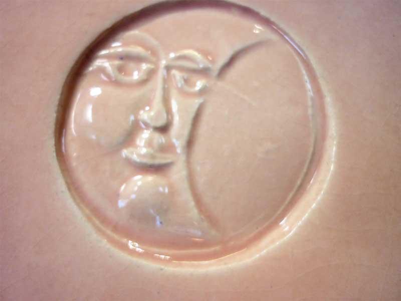 moon, handmade tile