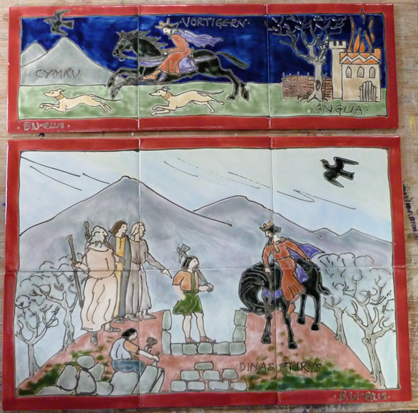 Merlin and 2 dragons tiles