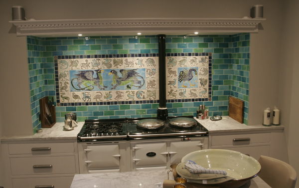 Aga tiling up