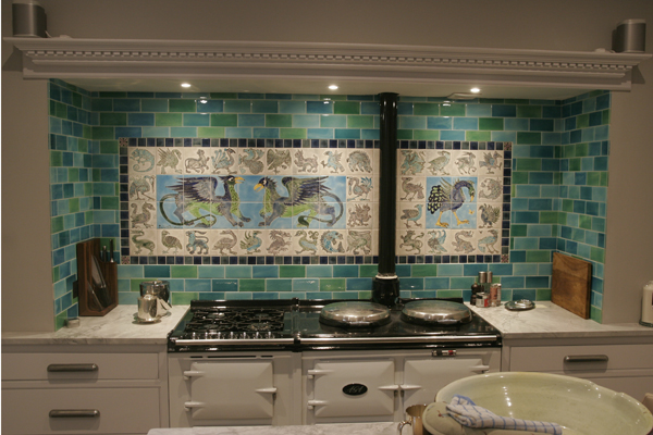 'William de Morgan' style tiles2