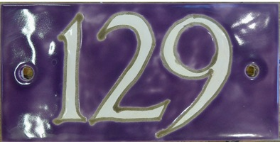 Tile house number