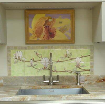 bespoke magnolia tile panel