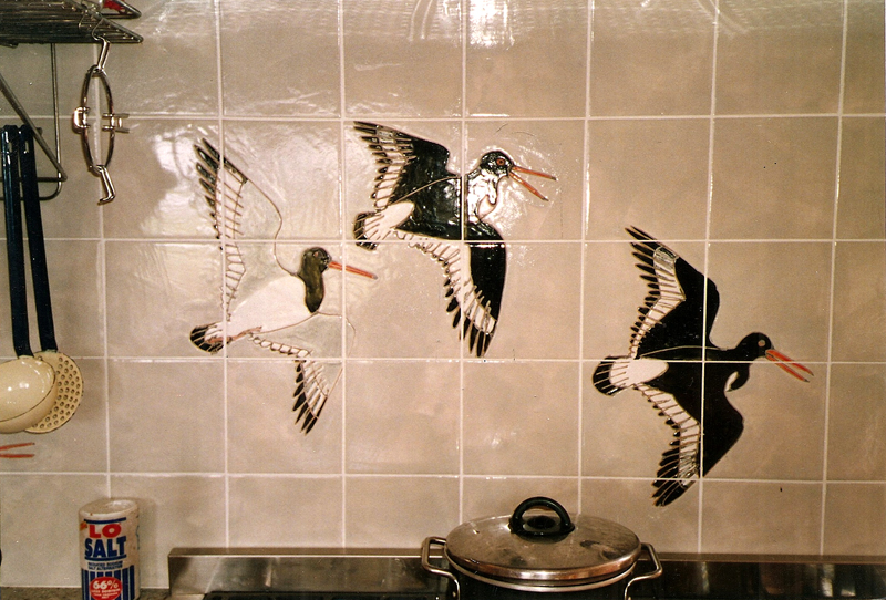 oystercatcher kitchen tiles