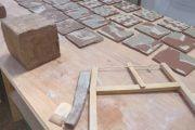 making agateware tiles