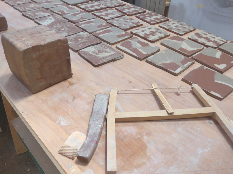 making agateware tiles