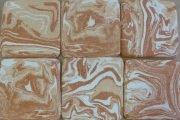 handmade clay agateware tiles 1